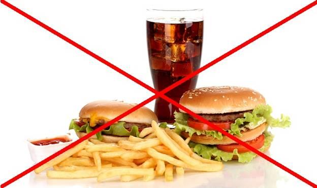 Отказ от жирной и мучной пищи